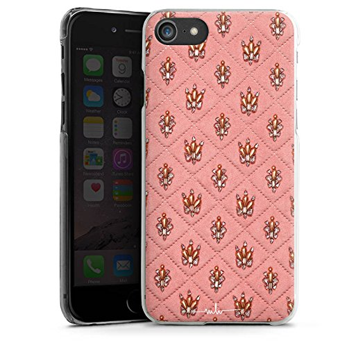 Apple iPhone X Silikon Hülle Case Schutzhülle Design Fashion Kronen Hard Case transparent
