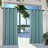 Exclusive Home Vorhänge, Polyester, 1 Paar, Polyester, blaugrün, 54x84
