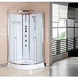 Nuie OPUS01-W Opus Quadrant Cabin 800x800mm Shower Enclosure, White, 800 x 800 mm