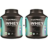 Nakpro Instantised Unflavored & Raw 100 % Whey Protein Concentrate Offer - Buy 1 Get 1 Free