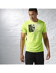 Reebok T-shirt T-shirt de course à pied jaune syello a99412Taille S/Xl