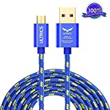 ULTRICS Android Cable Micro USB (10ft/ 3M), Nylon Tressé Charge Cable Données Sync...