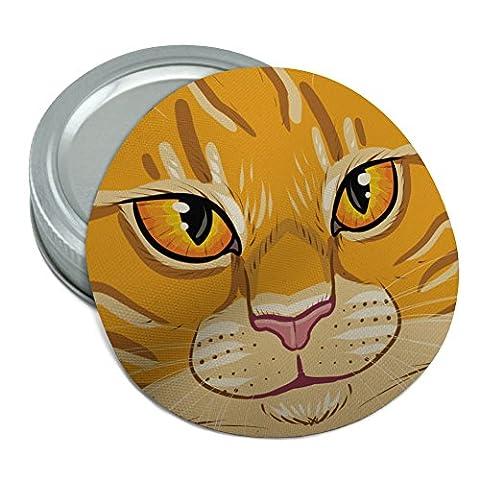 Orange Tabby Cat Face Pet Kitty Round Rubber Non-Slip Jar Gripper Lid Opener