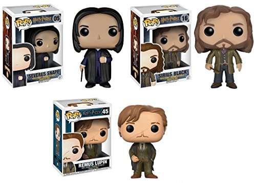 Funko POP! Harry Potter: Severus Snape + Sirius Black + Remus Lupin