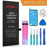 FLYLINKTECH Batteria per iPhone 6 Plus Alta Capacità, 3500mAh Batteria di Ricambio, Batteria Interna Li-ion, Strumenti di Riparazione Professionale Completi con Kit Sostituzione e Adesivi