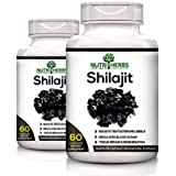 Nutriherbs 100% Natural & Pure Shilajeet Extracts 800 Mg 60 Capsules (Pack Of 2)