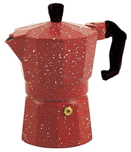 Ducomi Cafetera Espresso de Aluminio Efecto Piedra volcánica–Moka Express con Mango atérmico para un Café Italiano Cremoso y Especial