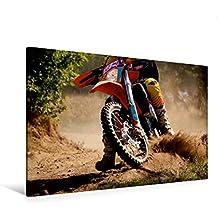 Premium Textil-Leinwand 120 cm x 80 cm quer, Heißer Reifen - Motocross | Wandbild, Bild auf Keilrahmen, Fertigbild auf echter Leinwand, Leinwanddruck (CALVENDO Sport)