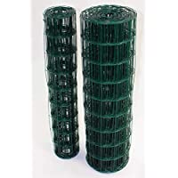 Easipet Green PVC Coated Steel Wire Mesh Fencing 120cm Garden Galvanised Fence (25m)(747)