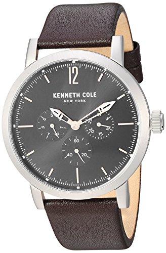 Kenneth Cole Homme 44mm Bracelet Cuir Marron Quartz Montre KC50395002