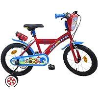 Paw Patrol, bicicletta da bambino, 40,6 cm, motivo: Paw Patrol, 2 freni, PB/Bidone AR per bambini, multicolore, 40,6 cm