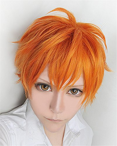 LanTing Cosplay Perücke Haikyu!! Hinata Syouyou Oange Perücke Corta Frauen Cosplay Party Fashion Anime Human Costume Full wigs Synthetic Haar Heat Resistant Fiber
