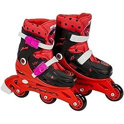 Ladybug - Patines en línea de aprendizaje Tri-skate, 27-30 (Saica 5832)