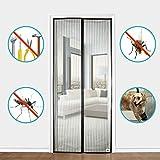 APALUS® Magnet Fliegengitter Tür Insektenschutz 90x210 cm / 100x220 cm, Der Magnetvorhang ist Ideal für die Balkontür, Kellertür, Terrassentür, Kinderleichte Klebemontage Ganz Ohne Bohren