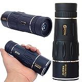 UrChoiceLtd PANDA 35X95 Dual Focus Zoom Grünes Optikobjektiv Panzerung Monokulares HD Teleskop für Kinder Sky Gazers & Jagd und Reise High Clear Nachtsicht-Fernglas (Schwarz)