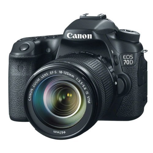 Affordable Canon EOS 70D digital SLR camera (20 megapixel APS-C CMOS-sensor, 7.6 cm (3 inch) display, Full-HD, Wi-Fi, DIGIC 5+ processor) 1: 3.5 – 5.6 IS STM black Special