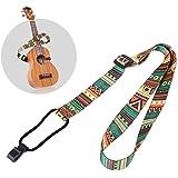 FOONEE Ukulele Strap, Adjustable Strap for Ukuleles, Hawaiian Bohemian Vintage for Kids, Soprano Concert Tenor Ukulele Fits for 21-26 Inch(Folk Style)