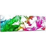 Bilderdepot24 Kunstdruck - Bunte Tintentropfen - Bild auf Leinwand - 120x40 cm einteilig - Leinwandbilder - Bilder als Leinwanddruck - Wandbild