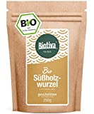 Süßholzwurzel-Tee geschnitten (Bio, 250g) I 100% Bio-Qualität I Abgefüllt in Deutschland (DE-ÖKO-005)
