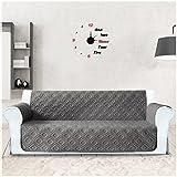 Sofa-Schutzdecke, Hochflor, wasserfest, für Sofa/Sessel, PET, für 1/2/3-Plätzer, Microfaser, dunkelgrau, 3-Sitzer