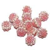 #8: Beadsnfashion Jewellery Making Acrylic Round Beads Pink 10 mm, Pack of 100 Pcs