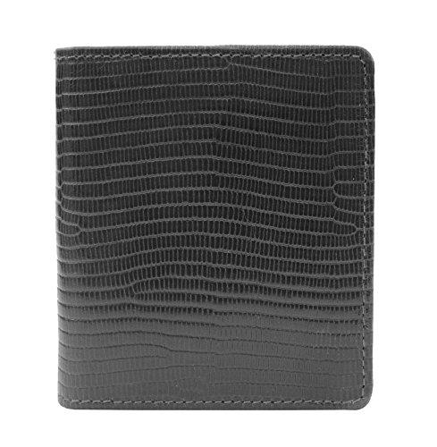 Prime Hide ,  Herren-Geldbörse, schwarz (schwarz) - 6618-Black - Croc Embossed Wallet