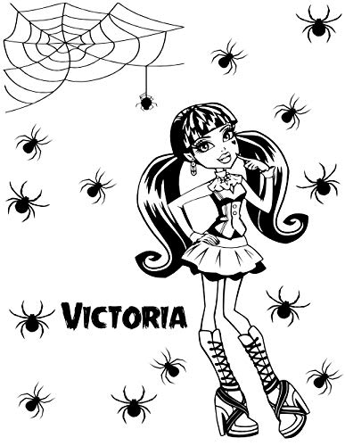 Monster High Dracula and spiders wall art decal vinyl wall sticker (black) by Wall Decor ()