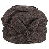 McBurn Lina Toque Walkmütze für Damen Filzmütze Damenmütze Winter (One Size - braun)