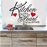 ZBYLL Wand Aufkleber Küche Herz Home Angebot wasserdicht Home Speisesaal Dekor Restaurant Besteck kühlschrank Aufkleber