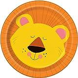 Unique Party 5208418cm 'jungle Party Animal Plaque (Lot de 8)