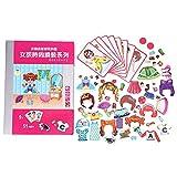 Giocattolo Puzzle Magnetico, Bambola di Simulazione Giocattoli da Vestire Gioco di Abbinamenti di Vestiti Giocattolo Coordinato DIY Educazione Giocattolo Cognitivo Regalo per Bambini Ragazzi Ragazze