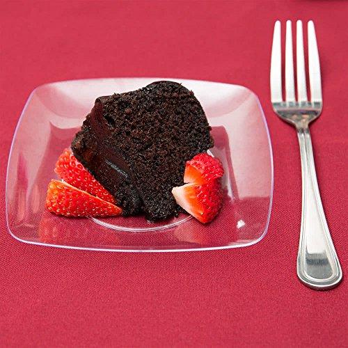Elegantes Hard Kunststoff klar Dessertteller-14cm (14cm)-10Stück