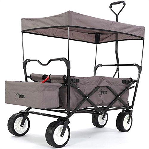 faltbarer fuxtec bollerwagen bw 100 mit dach im test. Black Bedroom Furniture Sets. Home Design Ideas