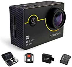 PROCUS Rush 4K WiFi Sports Action Camera Ultra HD Waterproof DV Camcorder 16MP, 2 Rechargeable Batteries, 23 Accessories