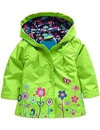 Enfant Manteau Imperméable à Capuche - LATH.PIN Enfant Bébé Fille Manteau de Pluie imperméable avec capuche