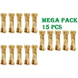 Pets Empire Pressed Dog Bone, Mini (3-inch X 15 Pieces) Mega Pack