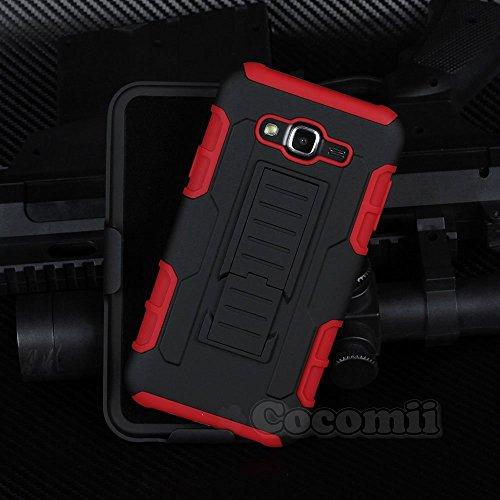 Cocomii Robot Armor Galaxy A7 Hülle NEU [Strapazierfähig] Erstklassig Gürtelclip Ständer Stoßfest Gehäuse [Militärisch Verteidiger] Ganzkörper Case Schutzhülle for Samsung Galaxy A7 (R.Red) A700 Cell Phone