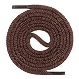 Mount Swiss Lacets ronds, qualité premium 100% coton, indéchirables, brun foncé 200 cm