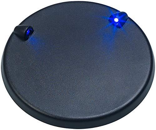 Playtastic Podest: LED-Beleuchtungs-Sockel für Modellbausätze, 2 Blaue LEDs, Ø 9,5 cm (Modellbau-Beleuchtung) - Podest Vitrine