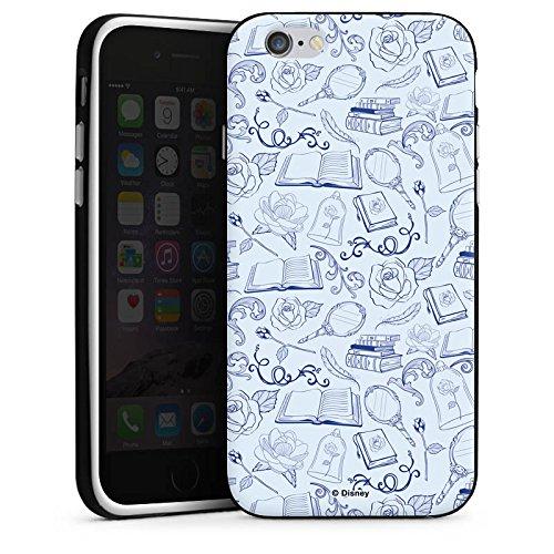 Apple iPhone X Silikon Hülle Case Schutzhülle Die Schöne und das Biest Muster Disney Silikon Case schwarz / weiß