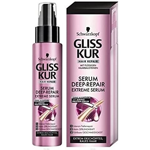 Schwarzkopf Gliss Serum Deep-repair Extreme Damaged Dry Hair Repair Spray 100 Ml by Schwarzkopf