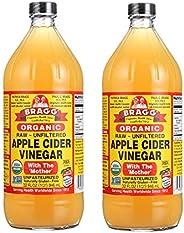 Bragg Organic Raw Apple Cider Vinegar - 946 ml (Pack of 2)