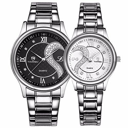 fq-102-juego-de-2-relojes-para-hombre-y-mujer-acero-inoxidable-color-blanco-y-negro