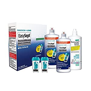 EasySept Multipack, 2 x 360 ml – Kontaktlinsenreiniger als Peroxid für weiche Linsen – Bausch und Lomb Kontaktlinsen Reinigungsmittel – Reinigung für Kontaktlinsen