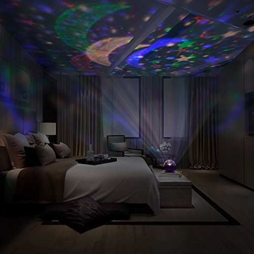 liqoo sternenhimmel projektor 360 grad 4 led korne. Black Bedroom Furniture Sets. Home Design Ideas