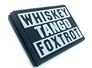 Whiskey Tango Foxtrot WTF Noir PVC Airsoft Velcro Patch