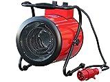 Rotek Elektrischer Rundheizlüfter mit 5 kW Heizleistung