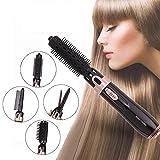 5-IN-1 Warmluftbürste Brush, QYBY HB323 Elektrische HaarbüRste FöHn 550W Warmluft-Lockenbürste Haarstyling Geräte Lockenstäbe Haarglätter Stylingbürsten Frauen Und MäNner