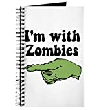 CafePress – Je suis avec Zombies Halloween – spirales Journal ordinateur portable, journal intime, blanches