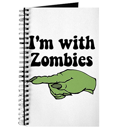 CafePress - I 'm mit Zombies Halloween - Spiralbindung Journal Notizbuch, persönliches Tagebuch, blanko (Beliebte Halloween-kostüme Für Frauen)